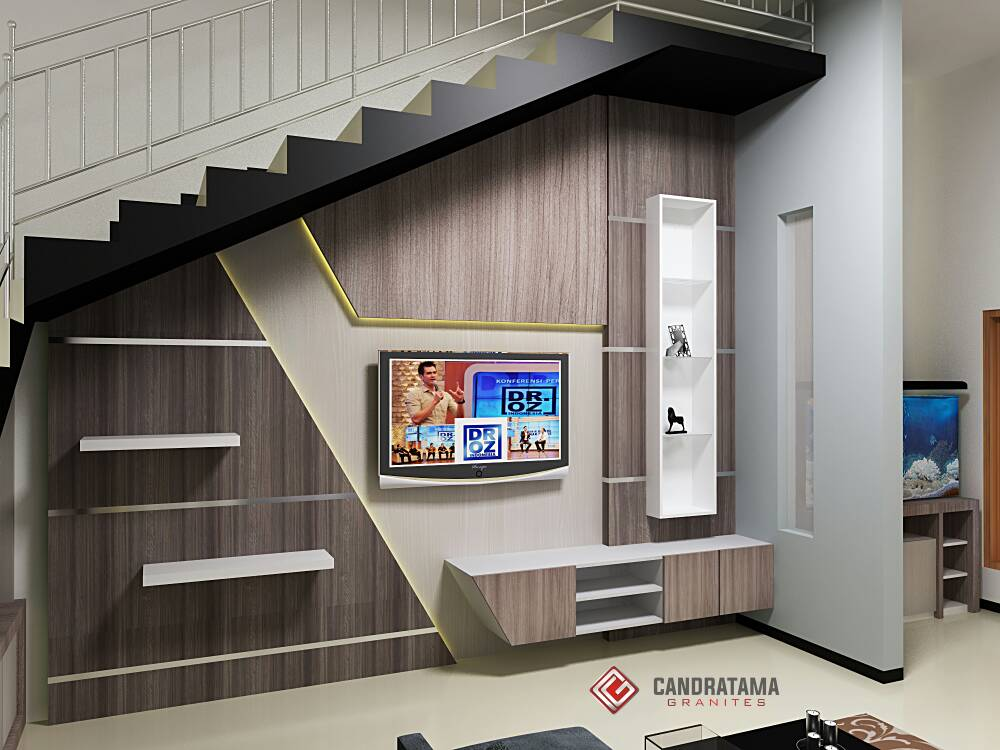 Rak TV Minimalis - Desain Interior Nganjuk 082183260005