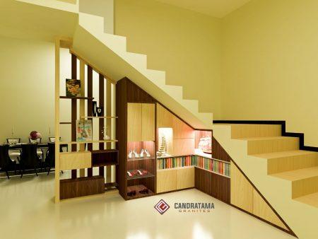 rak bawah tangga minimalis