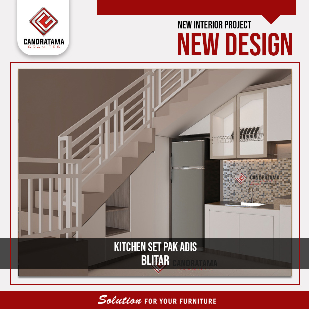 lemari dapur bawah tangga